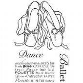 Woodware - Ballet Pumps  - Clear Magic Stamp Set - JGS425